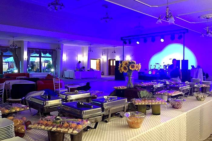 Iluminare noapte sala de bal Palatul Ghica